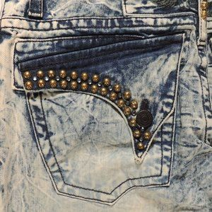 Robin's Jeans Men's Acid Washed Blue Jeans Size 30